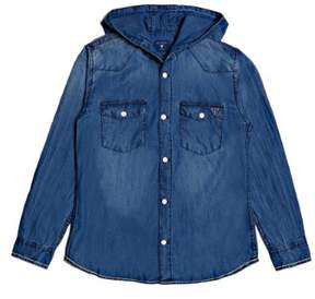 GUESS Boy's Hooded Denim Jacket (7-18)