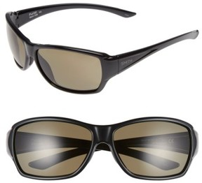 Smith Women's 'Purist' 59Mm Polarized Sunglasses - Black/ Polarized Grey Green