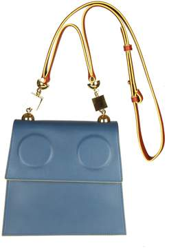Marni Marionette Bag In Blue Leather