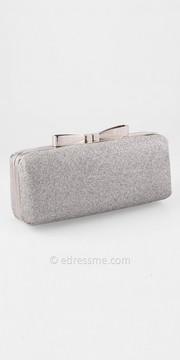 Camille La Vie Shimmer Fabric Metal Bow Top Handbag