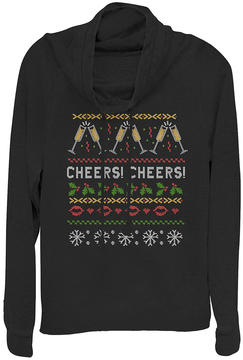 Fifth Sun Black 'Cheers' Vintage Cowl Neck Pullover