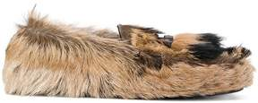 Prada fur loafers