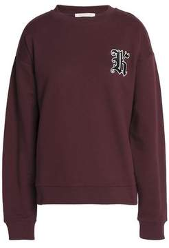 Christopher Kane Appliquéd Cotton-Blend Terry Sweatshirt