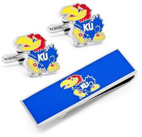 Ice University of Kansas Cufflinks and Money Clip Gift Set
