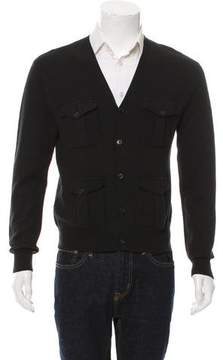 Ralph Lauren Black Label Wool Rib Knit Cardigan