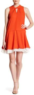 Cynthia Steffe Estella Twist Neck Contrast Lining Dress
