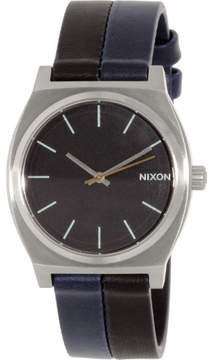 Nixon Men's Time Teller A0451938 Two-Tone Leather Quartz Watch