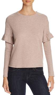 Andrew Marc Performance Ruffle Trim Thermal Top