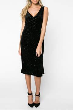 Everly Glitter Velvet Bodycon Dress