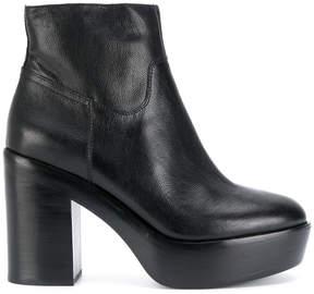 Ash platform heel boots