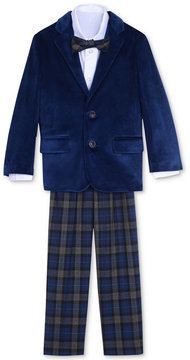 Nautica 4-Pc. Velvet Blazer, Shirt, Pants & Bowtie Set, Little Boys (4-7)