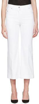 Calvin Klein Collection White Fray Bis Jeans