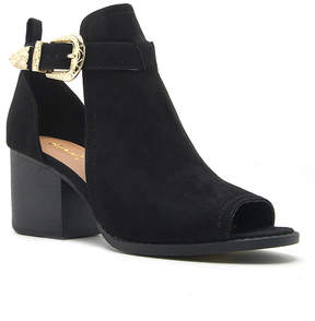 Qupid Black Core Bootie - Women