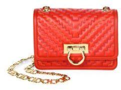 Salvatore Ferragamo Capsule Zigzag Small Leather Shoulder Bag
