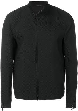 Emporio Armani textured zip jacket