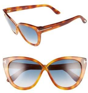 Tom Ford FT0511 Sunglasses Blonde Havana / Gradient Blue