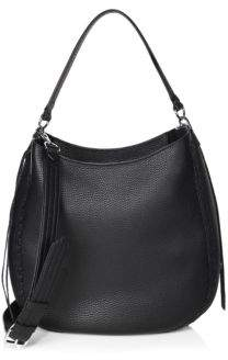 Rebecca Minkoff Unlined Convertible Leather Hobo Bag - BLACK - STYLE