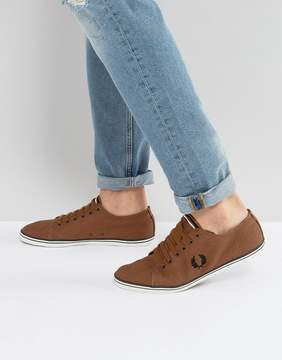 Fred Perry Kingston Twill Sneakers in Tan