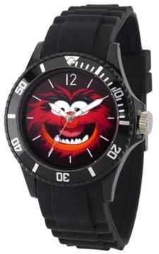 Disney Muppe Men's Black Plastic Watch, Black Bezel, Black Plastic Strap