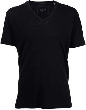 ATM Anthony Thomas Melillo Slub Jersey V-Neck Tee
