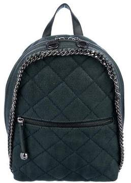 Stella McCartney Quilted Shaggy Deer Mini Falabella Backpack