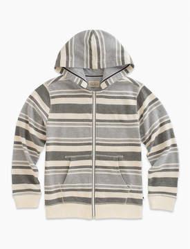 Lucky Brand Long Sleeve Stripe French Terry Full Zip Hoody