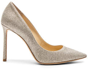 Jimmy Choo Romy 100 Dusty Glitter Heels