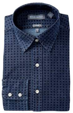 Michael Bastian Trim Fit Denim Dress Shirt