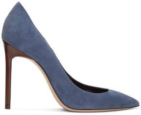 Saint Laurent Blue Suede Anja Heels