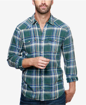 Lucky Brand Men's Sante Fe Plaid Western Shirt