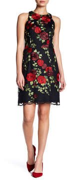 Betsey Johnson Floral Embroidery Lace Overlay Dress
