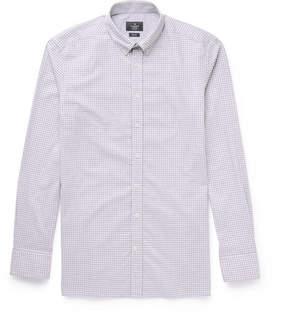 Hackett Brompton Slim-Fit Button-Down Collar Gingham Cotton Shirt