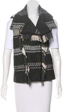 Edun Fringe-Trimmed Knit Vest