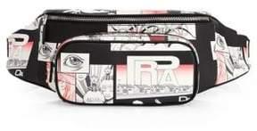 Prada Graphic Leather Waist Bag