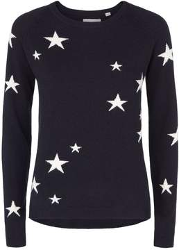 Chinti and Parker All-Over Star Cashmere Sweater