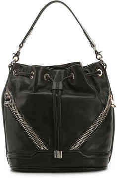 Women's Lottie Leather Backpack -Black
