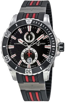 Ulysse Nardin Maxi Marine Diver Black Dial Black Rubber Men's Watch 63-10-3R-92