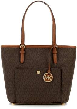 MICHAEL Michael Kors Jet Set Medium Snap-Pocket Tote - BROWN - STYLE