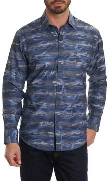 Robert Graham Men's Tailored Fit Camo Sport Shirt