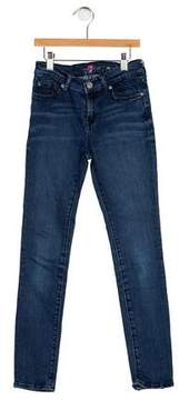 7 For All Mankind Girls' Five Pockets Straight-Leg Jeans