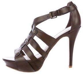 Marc Fisher Leather Caged Platform Sandals