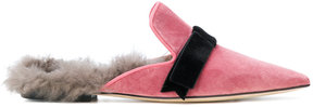 Gianna Meliani shearling lined slippers