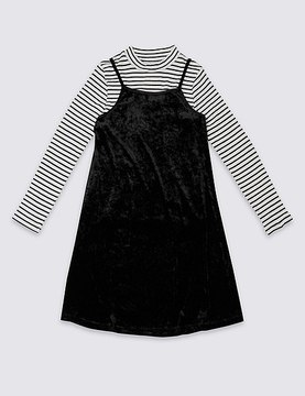 Marks and Spencer 2 Piece Dress & T-Shirt Outfit (3-14 Years)