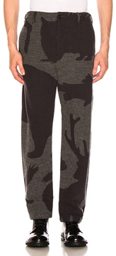 Engineered Garments Wool Jacquard Benson Trousers in Abstract,Gray.