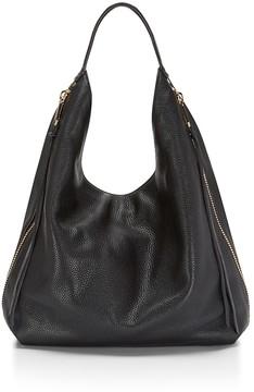 Rebecca Minkoff Bryn Double Zip Bag Boho Hobo Bag - ALMOND - STYLE