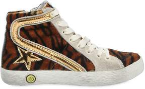 Golden Goose Deluxe Brand Slide Leather High Top Sneakers