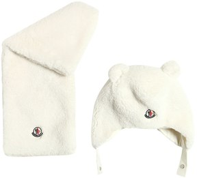 Moncler Faux Shearling Hat & Scarf