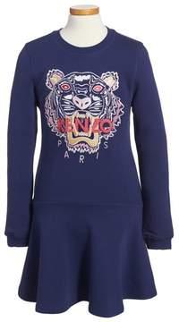 Kenzo Girl's Tiger Sweatshirt Dress