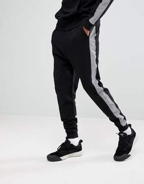 Asos Drop Crotch Joggers With Reflective Tape