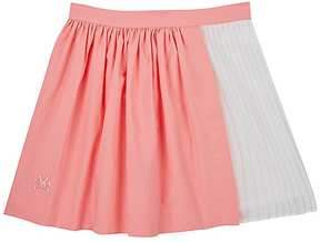 No Added Sugar PLEATED STRETCH-COTTON SKIRT